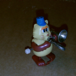 TROMBONE Playing Cat  Wind-Up retro toy 1980 ?TOMY